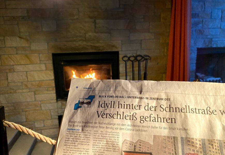 Wochenspiegel – MAZ  vom 18.11.2020 Idyll hinter der Schnellstraße wird auf Verschleiß gefahren